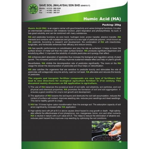 Save Soil Pesticide Humic Acid (HA)