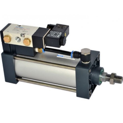 AirTAC Pneumatic Actuator Standard Cylinder, SCF series Tie-Rod Double Acting with Valve Type