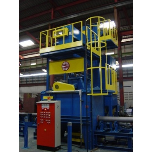 Growell Shot Blast Machine Fully Automated Blast Systems Pipe Blast Machine -- GMSB Engineering