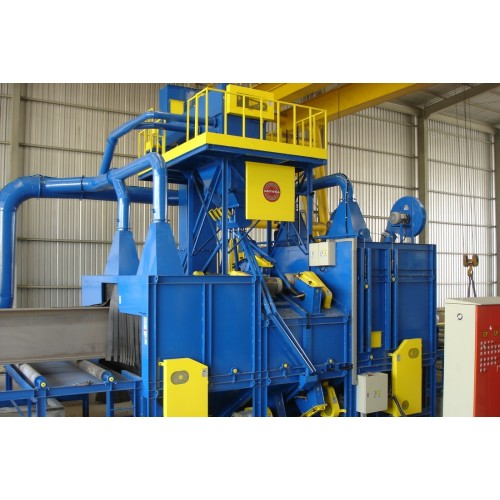 Growell Shot Blast Machine Fully Automated Blast Systems Roller Conveyor Blast Machine -- GMSB Engineering