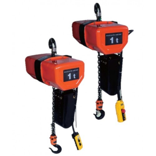 Hitachi Electric Chain Hoist FN series Suspension Type Dual Speed 3 Phase With Motorized Trolley ET Load 2t to 15t
