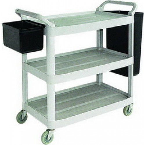 3 Tiers Utility Cart come with Refuse Bins