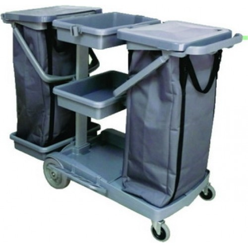 CT JT 200 Janitor Cart come with 2 x 120L Zipper Nylon Bag