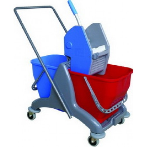CT Twin Mop Bucket come with Down Press Wringer
