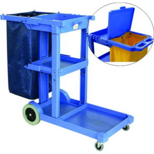 UNI Janitor Cart Trolley come with 120L Nylon Bag